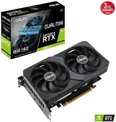Asus GeForce RTX 3060 Ti Dual Mini V2 8G 8GB GDDR6 256 Bit Ekran Kartı