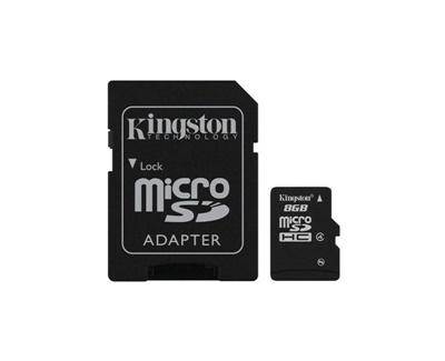 En ucuz Kingston 8GB MicroSDHC 4MB/s Class 4 Hafıza Kartı (SDC4/8GB) Fiyatı