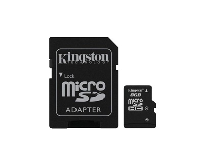 Kingston 8GB MicroSDHC 4MB/s Class 4 Hafıza Kartı (SDC4/8GB)