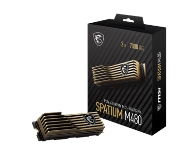 MSI 1TB Spatium M480 HS NVMe Okuma 7000MB-Yazma 5500MB M.2 SSD