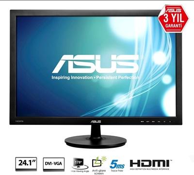 """En ucuz Asus 24.1"""" VS24AH 5ms 60hz HDMI,D-Sub,DVI-D IPS Monitör Fiyatı"""