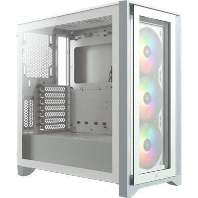 En ucuz Corsair iCUE 4000X Beyaz Tempered Glass RGB USB 3.0 ATX Mid Tower Kasa  Fiyatı
