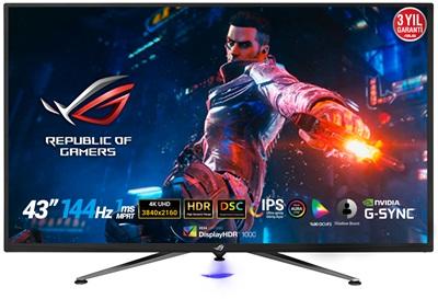 """En ucuz Asus 43"""" ROG PG43UQ 1ms 144hz HDMI,DisplayPort G-Sync,FreeSync 4K Gaming Monitör Fiyatı"""