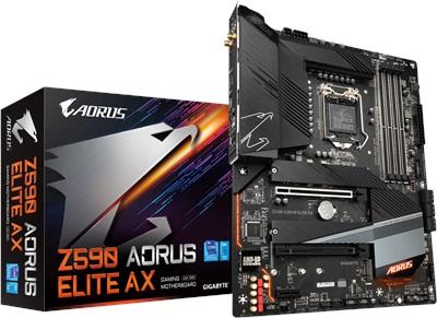 Gigabyte Z590 Aorus Elite AX 5400mhz(OC) RGB M.2 Wi-Fi 1200p ATX Anakart
