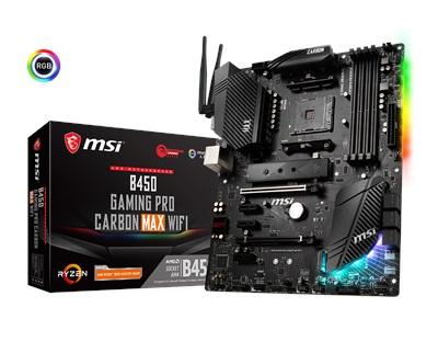 En ucuz MSI B450 Gaming Pro Carbon MAX WiFi 4133mhz(OC) RGB M.2 AM4 ATX Anakart Fiyatı