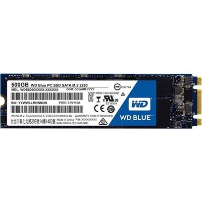 WD 500GB Blue 3D NAND Okuma 560MB-Yazma 530MB M.2 SSD (WDS500G2B0B)