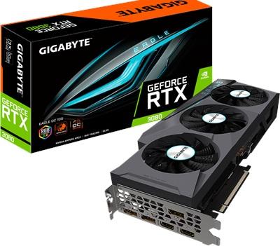 En ucuz Gigabyte GeForce RTX3080 Eagle OC 10G 10GB GDDR6X 320 Bit Ekran Kartı Fiyatı