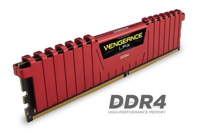 Corsair 8GB Vengeance Lpx Kırmızı 2400mhz CL14 DDR4  Ram (CMK8GX4M1A2400C14R)