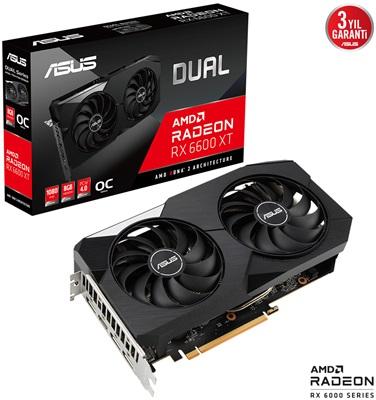 Asus Radeon RX 6600 XT Dual OC 8GB GDDR6 128 Bit Ekran Kartı