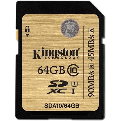 Kingston 64GB SDXC 90MB/s Class 10 (SDA10/64GB)