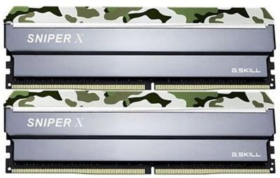 G.Skill 16GB(2x8) SniperX Orman Kamuflaj 3000mhz CL16 DDR4  Ram (F4-3000C16D-16GSXFB)