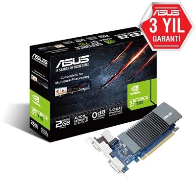 En ucuz Asus GeForce GT710 SL-2GD5-BRK 2GB GDDR5 64 Bit Ekran Kartı Fiyatı