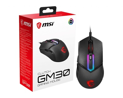 MSI GG Clutch GM30 Siyah Optik Gaming Mouse