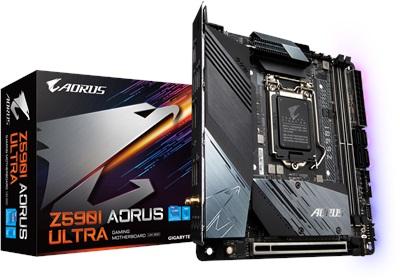 Gigabyte Z590I Aorus Ultra 5400mhz(OC) RGB M.2 Wi-Fi 1200p Mini-ITX Anakart