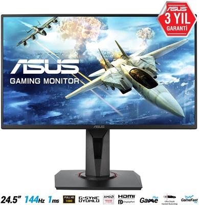 """En ucuz Asus 24,5"""" VG258Q 1ms 144hz HDMI,DPPort,DVI FreeSync (G-Sync Uyumlu) Gaming Monitör Fiyatı"""