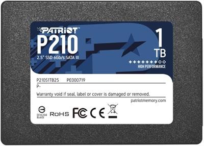 Patriot 1TB P210 Okuma 520MB-Yazma 430MB SATA SSD Harddisk (P210S1TB25)