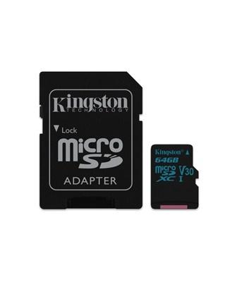 Kingston 64GB microSDXC Canvas Go! 90MB/s UHS-I Class 10 Hafıza Kartı (SDCG2/64GB)