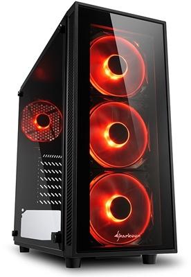 Sharkoon TG4 750W 80+ Bronze Kırmızı Led Fan USB 3.0 ATX Mid Tower Kasa
