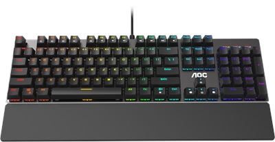 En ucuz Aoc GK500 Outemu Red Switch Mekanik RGB Gaming Klavye  Fiyatı