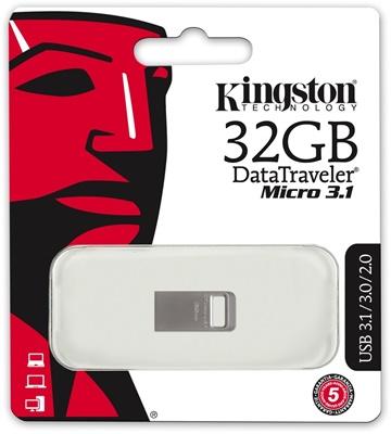 Kingston 32GB DT Micro 3.1 USB 3.1 DTMC3/32 USB Bellek
