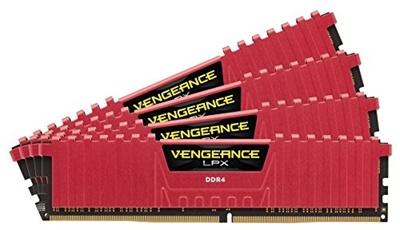 Corsair 32GB(4x8) Vengeance Lpx Kırmızı 2400mhz CL16 DDR4  Ram (CMK32GX4M4A2400C16R)