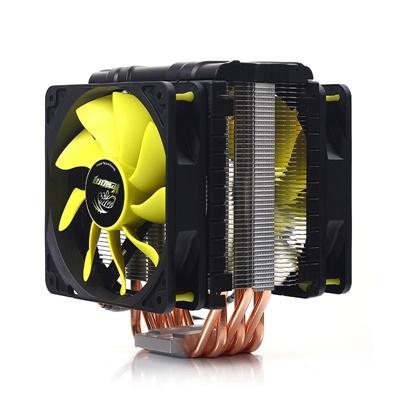 Akasa Venom Voodoo 120 mm Sarı Fan Intel-AMD Uyumlu Hava Soğutucu