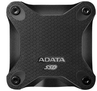 Adata 480GB SD600Q Siyah Okuma 440MB-Yazma 440MB USB 3.1 Taşınabilir SSD (ASD600Q-480GU31-CBK)