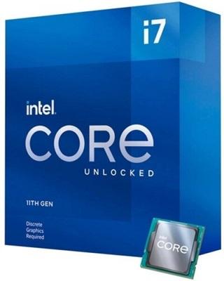 Intel Core i7 11700KF 3.60 Ghz 8 Çekirdek 16MB 1200p 14nm İşlemci