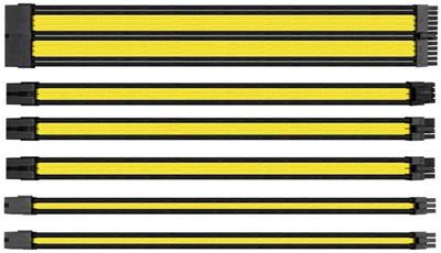 Thermaltake Sarı/Siyah Sleeved Kablo Seti
