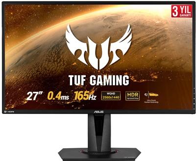 """En ucuz Asus 27"""" VG27BQ 0.4ms 165hz HDMI,DisplayPort FreeSync 2K Gaming Monitör Fiyatı"""