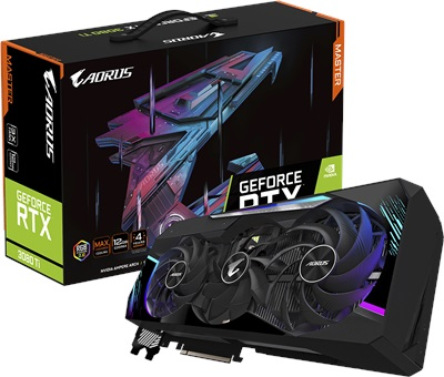 Gigabyte GeForce RTX 3080 Ti Aorus Master 12G 12GB GDDR6X 384 Bit Ekran Kartı