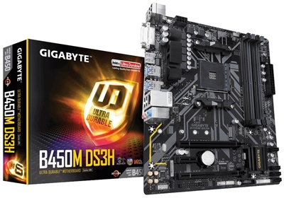 Gigabyte B450M DS3H 2933mhz(OC) RGB M.2 AM4 mATX Anakart