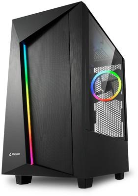 Sharkoon REV100 Tempered Glass RGB USB 3.0 ATX Mid Tower Kasa