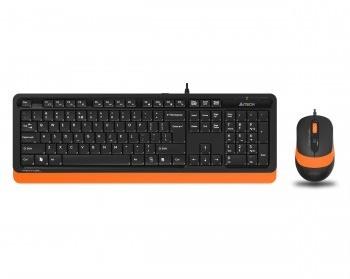 En ucuz A4 Tech F1010 Turuncu Türkçe Q  USB Klavye + Mouse Set Fiyatı