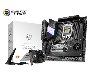 En ucuz MSI Creator TRX40 4666mhz(OC) RGB M.2 Wi-Fi sTRX4 e-ATX Anakart Fiyatı