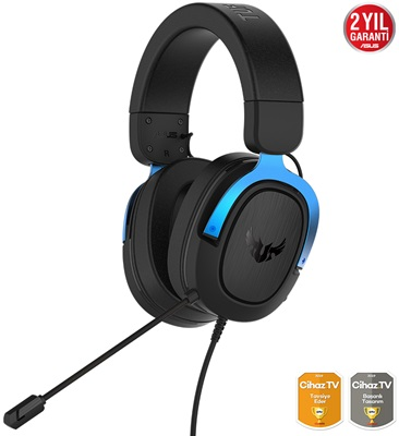 En ucuz Asus TUF Gaming H3 Blue 7.1 Surround Gaming Kulaklık   Fiyatı