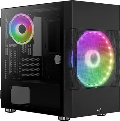 Aerocool Atomic RGB Tempered Glass USB 3.0 mATX Mini Tower Kasa
