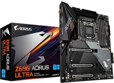 Gigabyte Z590 Aorus Ultra 5400mhz(OC) RGB M.2 Wi-Fi 1200p ATX Anakart