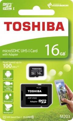 Toshiba 16GB MicroSDHC M203 100 MB/sn U1 Class 10 Hafıza Kartı (THN-M203K0160EA)